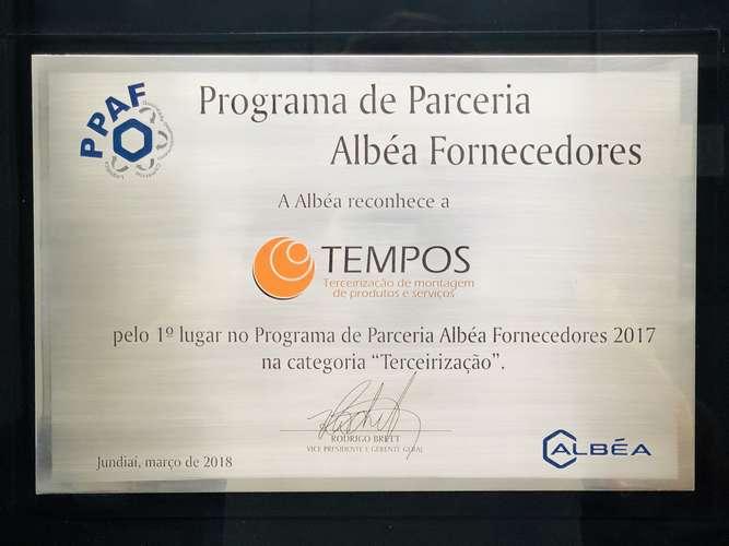 Programa de Parceria Albéa Fornecedores 2017